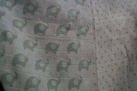 Hart - Ptx20 961074-61 Katoen olifant hartjes wit/mint/roze