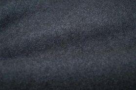Fluweelachtige stof - OR 8001-068 Organic cotton fleece grey melange