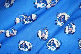 Luchtige - NB17/18 3243-002 katoen prinses in rondje blauw