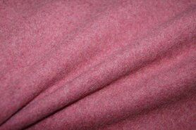 Fleece stoffen - OR8001-019 Fleece katoen extra soft bordeaux melange
