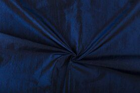 Feeststof - NB 5516-005 Taftzijde donkerkobaltblauw