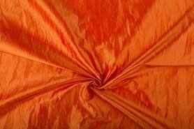 Oranje stoffen - NB 5516-036 Taftzijde oranje
