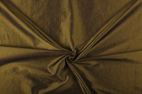 Taftseidenstoffe - NB 5516-080 Taftseide grün/rost