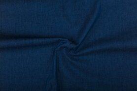 Spijkerstoffen - NB 0600-006 Jeans soepel blauw