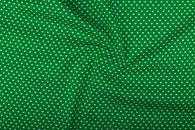 Boerenbont stoffen - NB 1264-025 Katoen kleine hartjes groen