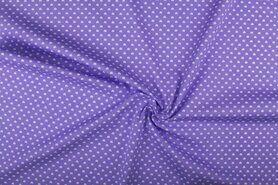 Boerenbont stoffen - NB 1264-043 Katoen kleine hartjes lila