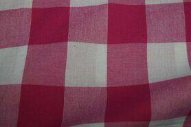 Gordijnstoffen - Katoen BB ruit 5 cm fuchsia