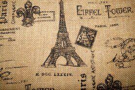 Spröde - Jute Eiffelturm Text naturel schwarz