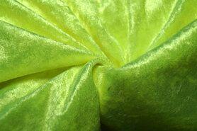 Carnavalsstoffen - 4400-41 Velours de panne fluor geel