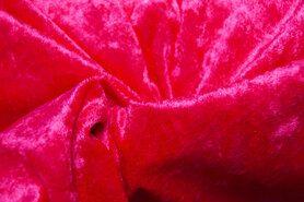 Felroze - 4400-44 Velours de panne fluor roze