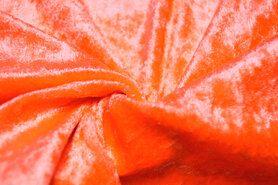 Feloranje - 4400-43 Velours de panne fluor oranje
