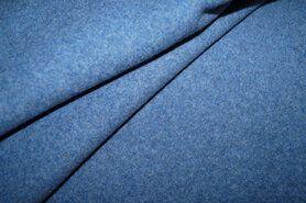 Fleece - OR8001-007 Organic cotton fleece jeansblauw gemeleerd