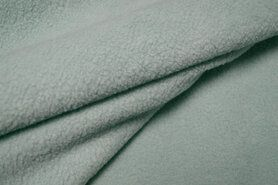 Fleece stoffen - OR8001-022 Organza cotton fleece mint