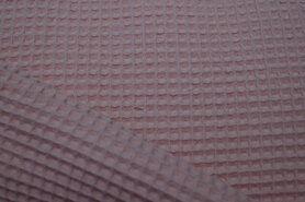 Waffelbaumwolle - KN 0267-091 Waffeltuch rosa/altrosa