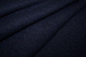 100% wol - NB 4578-008 Gekookte wol donkerblauw