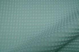 Wafelkatoen - KN 0267-320 Wafeldoek mint