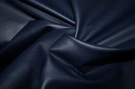Legging - MR1005-008 Foil Bianca rekbaar kunstleer donkerblauw