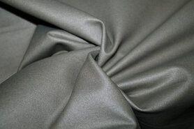 60% viscose, 35% polyamide, 5% spandex - MR1005-165 Foil Bianca rekbaar kunstleer grijs