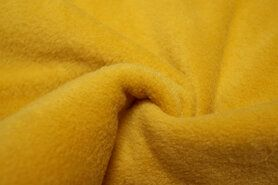 Weekaanbieding fleece 9111 - NB 9111-034 Fleece okergeel