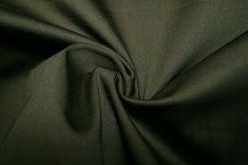 Katoen, viscose, elastan - KN 0748-213 Satin stretch legergroen