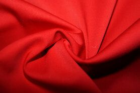 Katoen, viscose, elastan - KN 0748-425 Satin stretch rood