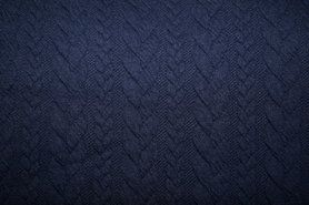 Zomer - KN 13423-600 Tricot kabel donkerblauw
