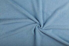 Fluweel stof - NB 2900-003 Badstof dubbelgelust blauw