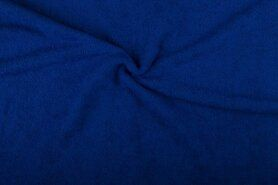 Badstof - NB 2900-005 Badstof kobaltblauw (dubbel gelust)