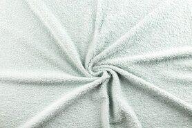90%katoen/10%polyester - NB 2900-020 Badstof licht oud-mintgroen (dubbel gelust)