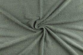 90%katoen/10%polyester - NB 2900-021 Badstof donker oudgroen (dubbel gelust)