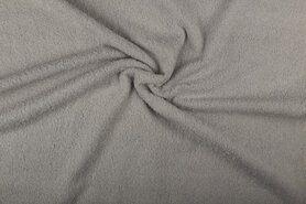 Handdoek stoffen - NB 2900-061 Badstof lichtgrijs (dubbel gelust)