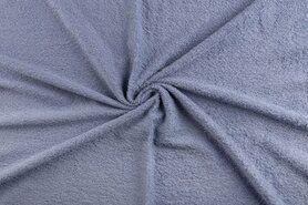 90%katoen/10%polyester - NB 2900-103 Badstof blauw (dubbel gelust)