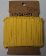 Geel - NB 10499-033 boord / manchet grof geel