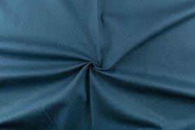 Stenzo stoffen - NB 4795-224 Canvas petrol/blauw