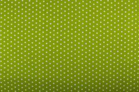 Boerenbont stoffen - NB 1266-024 Katoen sterretjes appelgroen