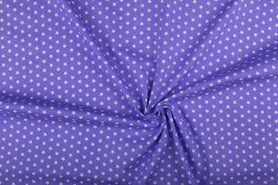 Boerenbont stoffen - NB 1266-043 Katoen kleine sterretjes lila