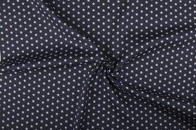 Boerenbont-Stoff - NB 1266-68 Baumwolle kleine Sterne dunkelgrau