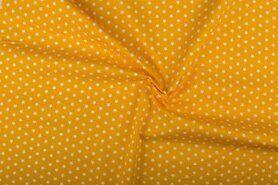 Boerenbont stoffen - NB 1266-035 Katoen sterretjes geel