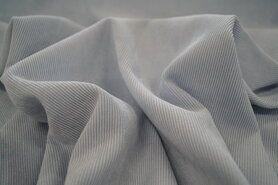 lichte stretch stoffen - NB 1576-002 Ribcord lichte stretch lichtblauw