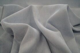Ribcord en velvet - NB 1576-002 Ribcord stretch lichtblauw