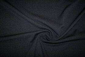 Tricot stoffen - KN 0692-999 Tricot light scuba crepe zwart