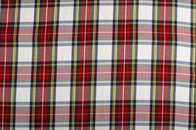 Geruite stof - NB 5193-051 Schotse ruit rood/groen/wit