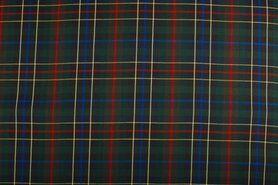 Geruite stof - NB 5194-001 Schotse ruit groen/blauw/rood/geel