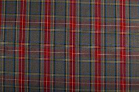 80% polyester, 20% viscose - NB 5193-068 Schotse ruit grijs