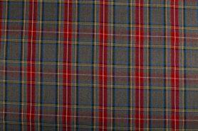 Geruite stof - NB 5193-068 Schotse ruit grijs