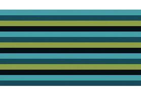 Boorden / Manchetten - NB 10665-024 boord / manchet gestreept turquoise/petrol/appelgroen/donkerblauw