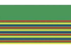 Boorden / Manchetten - NB 10666-015 boord / manchet uni/fijn gestreept grasgroen/rood/geel/kobaltblauw