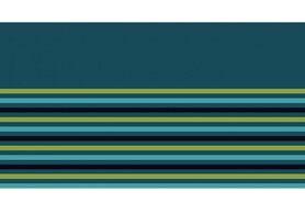 Boorden / Manchetten - NB 10666-024 boord/manchet uni/fijn gestreept petrol/appelgroen/turquoise/donkerblauw