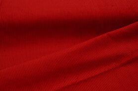 Ribcord en velvet - NB 3044-015 Ribcord grof rood