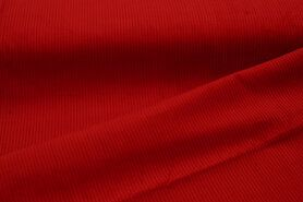 Ribcord en velvet - NB 3044-015 Ribcord medium rood